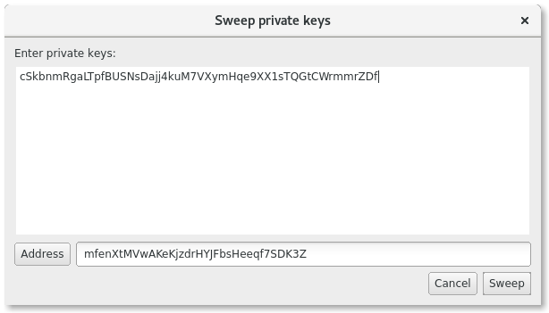 Sweep Private Keys