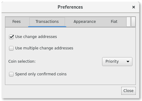 Change Address Preferences