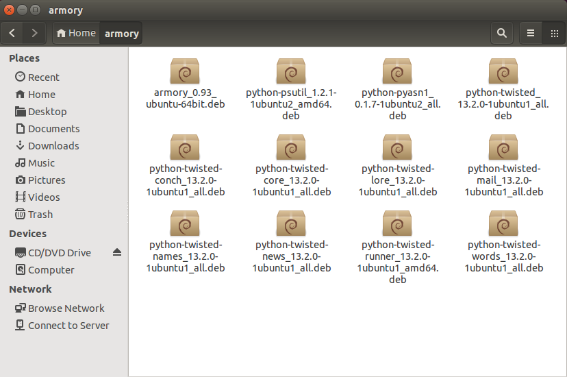 Offline Installation of Armory on Tails and Ubuntu Linux