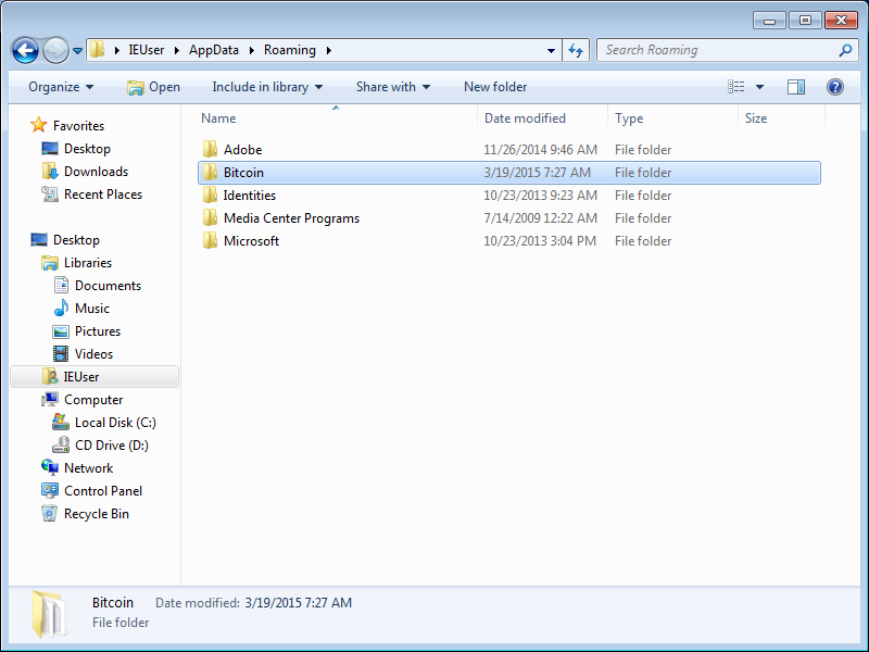 Windows Explorer Data Directory